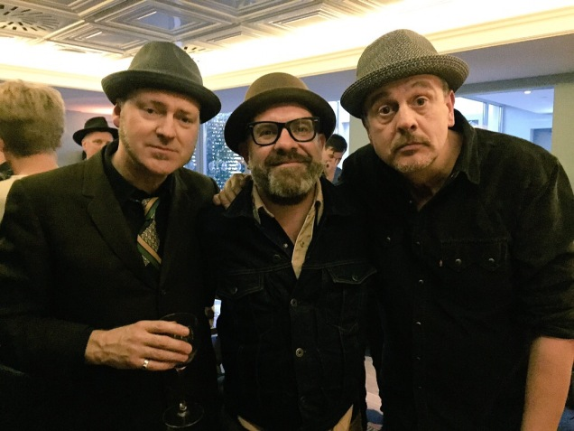 Michael Weston King, Sean Hannam and Mark Billingham at the launch of The Other Half